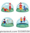 set of children at the playground 50380506