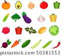 Vegetables icons set 50381553