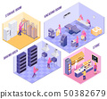 Bakery Isometric Illustration 50382679