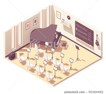 Vector isometric school music classroom 50384492