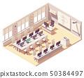 Vector isometric computer lab classroom 50384497