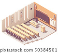 Vector isometric university lecture hall 50384501