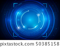 Abstract HUD technology background 012 50385158