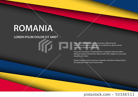 Modern vector background with Romanian colors 50386511