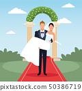 wedding couple cartoon 50386719