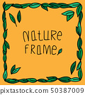 natural frame decoration.abstract background. 50387009