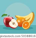 sweet fruits food 50388616