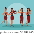 Music band cartoon 50389945