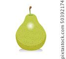 라 프랑스 일러스트 서양 배 | 가을 과일 음식 | 벡터 데이터 50392174