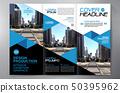 Brochure 3 fold flyer design a4 template. 50395962