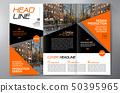 Brochure 3 fold flyer design a4 template. 50395965