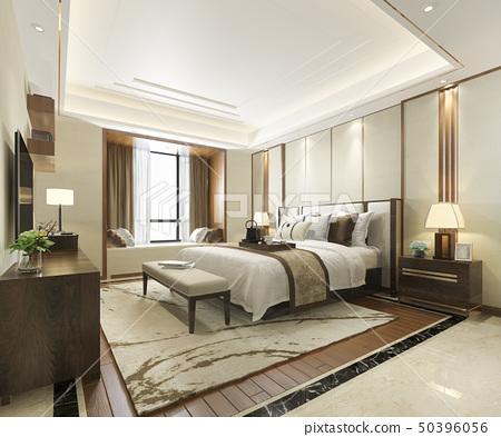 luxury modern bedroom suite in hotel 50396056