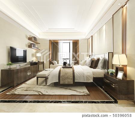 luxury modern bedroom suite in hotel 50396058
