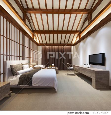 luxury chinese bedroom suite in resort hotel 50396062