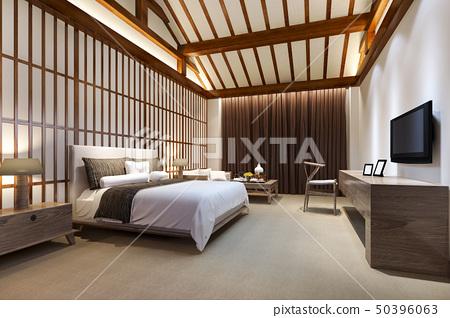 luxury chinese bedroom suite in resort hotel 50396063