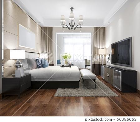 luxury modern bedroom suite in hotel 50396065