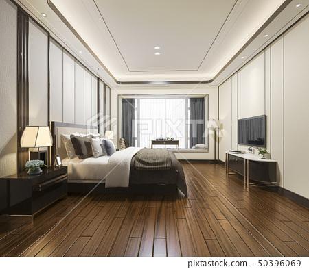 luxury modern bedroom suite in hotel 50396069