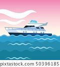 yacht boat cartoon 50396185
