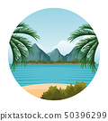 seashore landscape cartoon 50396299