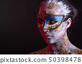 Creative podium makeup in Venetian lady style 50398478