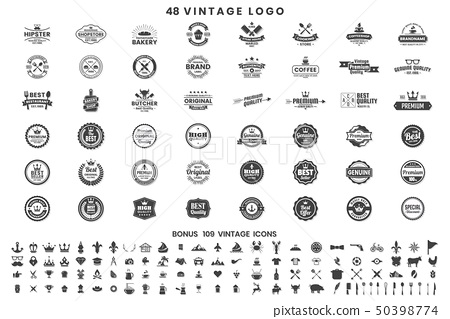 Vintage Retro Vector Logo for banner 50398774