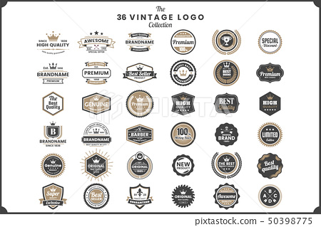 Vintage Retro Vector Logo for banner 50398775