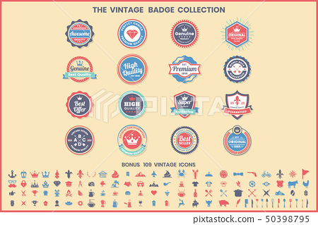 Vintage Retro Vector Logo for banner 50398795