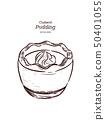 pudding, custard, vector 50401055