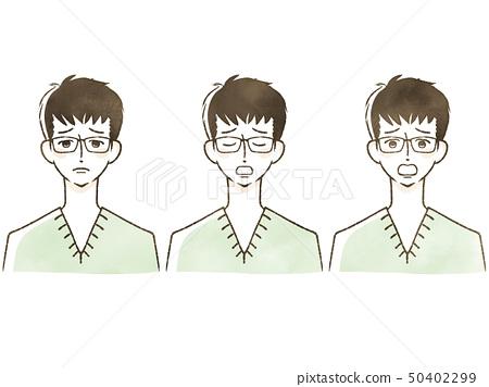 男性 - 面部表情 50402299