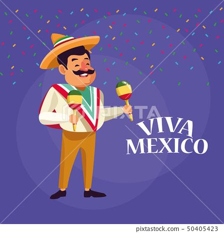 Viva Mexico Cartoons Stock Illustration 50405423 Pixta