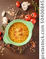 Lentil soup - Masoor Dal or Dal Tadka Curry 50406845