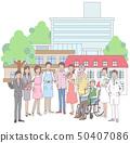 간호 및 병원과 관련된 사람들 50407086
