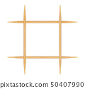 Wooden toothpicks on white background  50407990