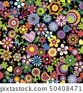Floral mix, black background 50408471