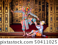 Art culture Thailand Dancing in masked khon in 50411025