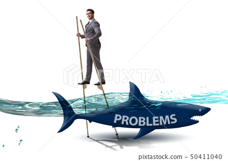 Businessman successfully dealing with his problems 50411040