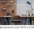 modern wooden study desk in kid's bedroom 50411158