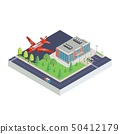 isometric airport modern and aircraft new versia 50412179