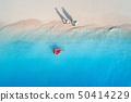 woman, ring, sea 50414229