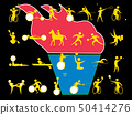 套象包括残疾人的体育。这是东京奥运会和残奥会的一系列活动。 50414276