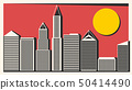 Big City With Skyscrapers Vector Illustration For 50414490