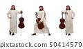 Arab man playing musical instrument 50414579