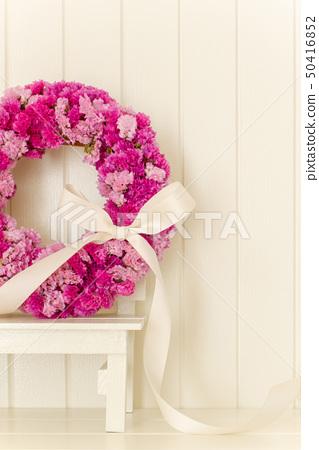 粉紅色的花花圈 50416852