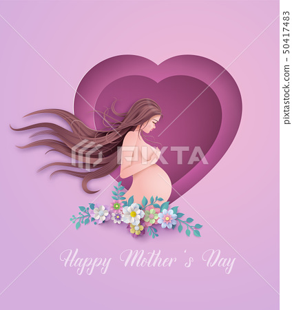 Happy Mother's day greeting card. 50417483