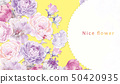 Computer drawn abstract peony flower rose flower illustration 50420935