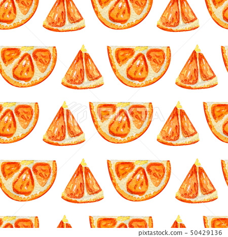 Seamless pattern with slices of orange. 50429136