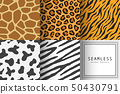 Vector of seamless animal print pattern 50430791