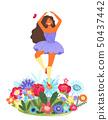 女人 女性 花朵 50437442