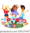 女人 女性 花朵 50437447