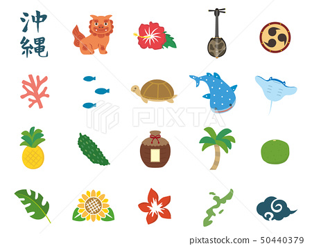 Okinawa cute illustration materials 50440379